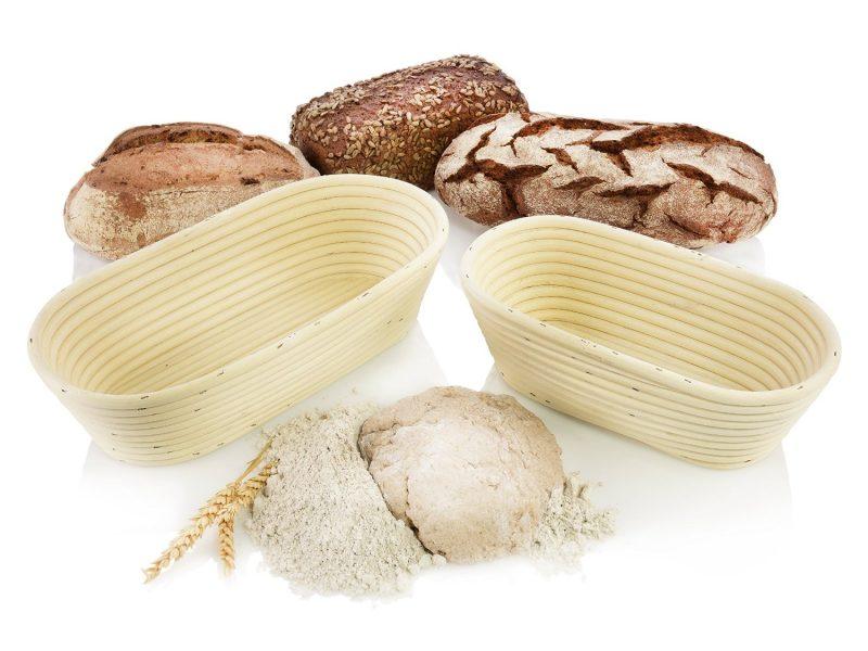 Gärkörbchen mit Broten zum backen