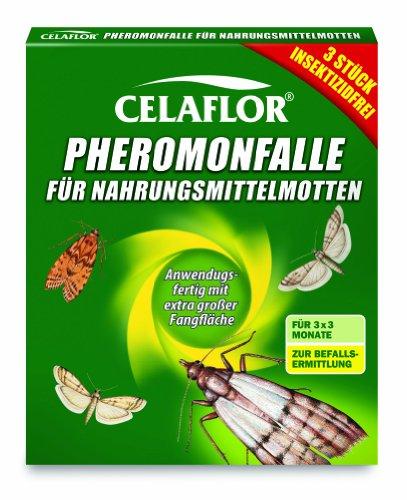 celaflor 1396 pheromonfalle f r nahrungsmittelmotten 3 st ck die. Black Bedroom Furniture Sets. Home Design Ideas